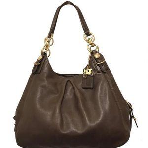 Coach Maggie Mia Madison Brown Leather Satchel Bag